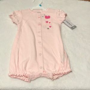 Pink and white striped body suit- two available